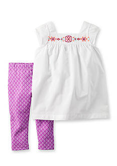 Carter's 2-Piece Embroidered Top & Pants Set
