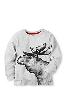 Carter's Toddler Long-Sleeve Moose Graphic Tee