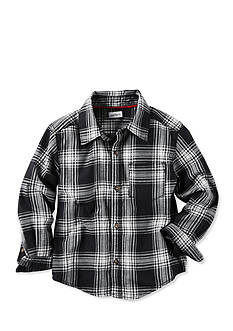 Carter's Toddler Black White Plaid Flannel Shirt