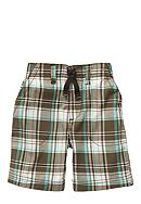 Carter's® Brown Plaid Shorts Toddler Boy