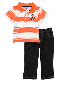Carter's Stripe Polo Pant Set Toddler Boys