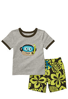 Carter's Monkey Short Set Toddler Boys
