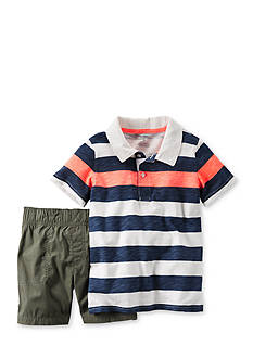 Carter's 2-Piece Stripe Polo Shirt and Shorts Set Toddler Boys