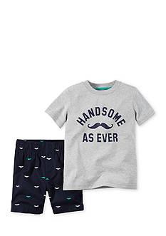 Carter's 2-Piece Mustache Tee and Short Set Toddler Boys