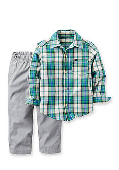 Carter's 2-Piece Button-Front Shirt & Canvas Pant Set Toddler Boys