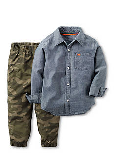 Carter's 2-Piece Chambray Shirt & Jogger Set Toddler Boys