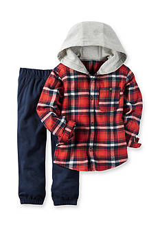 Carter's Toddler 2-Piece Hooded Button-Front & Jogger Set