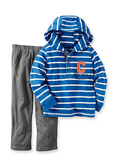 Carter's Toddler 2-Piece Hooded Stripe Top & French Terry Pant Set