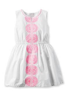 Carter's Embroidered Dress Toddler Girls