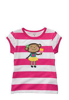 Carter's Monkey Stripe Tee Toddler Girls