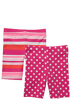 Carter's 2-Pack Stripe and Polka Dot Bike Shorts Toddler Girls