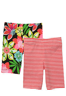 Carter's 2-Pack Floral Print and Stripe Bike Shorts Toddler Girls