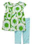 Carter's® Big Daisy Capri Set Toddler Girl