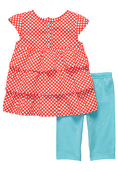 Carter's Dot Stripe Capri Set Toddler Girl