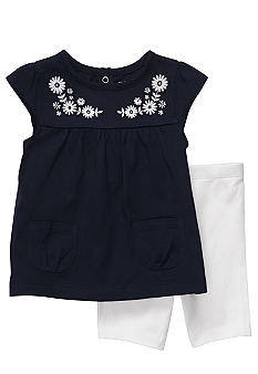 Carter's Navy Embroidered Set Toddler Girls