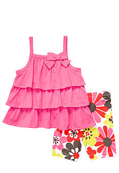 Carter's Tiered Top And Short Set Toddler Girls