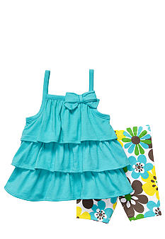 Carter's Tiered Ruffle Top And Short Set Toddler Girls