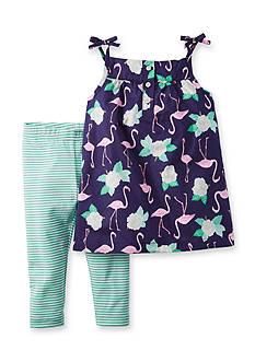 Carter's 2-Piece Flamingo Tank and Stripe Legging Set Toddler Girls
