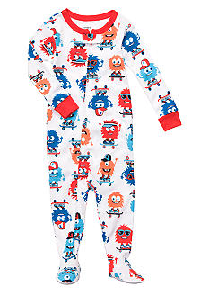 Carter's Monster Print Footed Pajama
