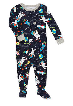 Carter's Space Print Footed Pajama