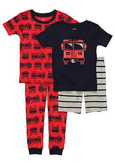 Carter's 4-Piece Firetruck Pajama Set