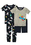 Carter's® 4-Piece Space Print Pajama Set