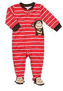 Carter's® Carter's® Monkey Striped Footed Pajama
