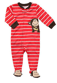 Carter's Carter's Monkey Striped Footed Pajama