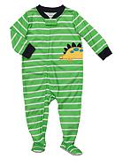 Carter's® Dinosaur Stripe Footed Pajama