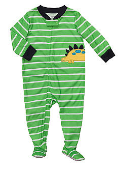 Carter's Dinosaur Stripe Footed Pajama