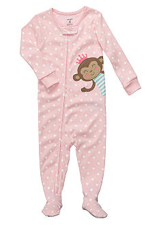 Carter's Monkey Dot Footed Pajama