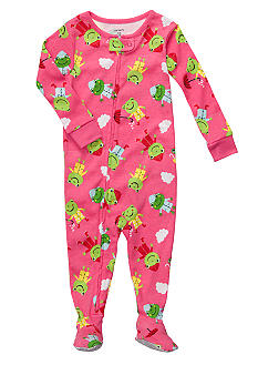 Carter's Froggie Print Footed Pajama