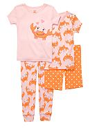 Carter's® 4-Piece Crabby PJ Set