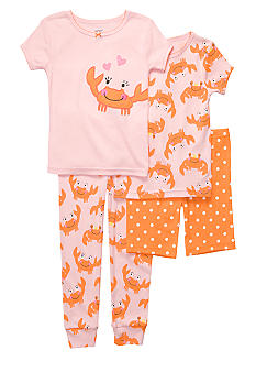 Carter's 4-Piece Crabby PJ Set
