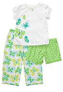 Carter's® 3-Piece Butterfly Pajama Set