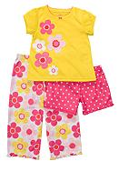 Carter's® 3-Piece Floral Print PJ Set