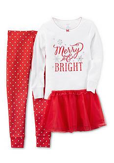 Carter's 3-Piece Snug Fit Cotton Christmas Pajamas & Tutu Set