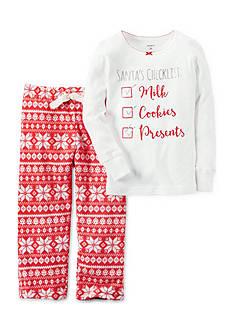 Carter's 2-Piece Cotton & Fleece Christmas Pajamas
