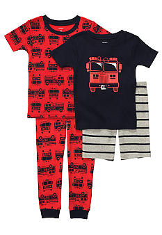 Carter's® 4-Piece Firetruck Pajama Set Toddler Boys