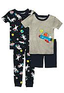 Carter's® 4-Piece Outer Space PJ Set Toddler Boys