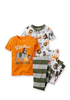 Carter's 4-Piece Dinosaur Printed Pajama Set Boys 4-8