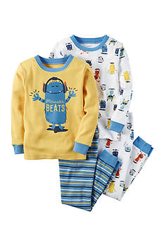 Carter's Monster Beats 4-Piece Snug Fit Cotton Pajamas Toddler Boys