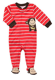 Carter's Monkey Applique Footed Pajama Toddler Boys