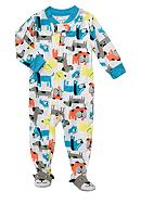 Carter's® Dog Print Footed Pajama Toddler Boys