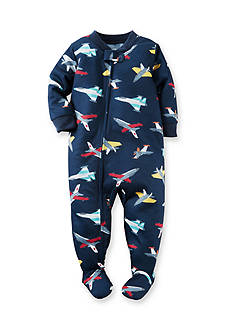 Carter's Plane Pattern Footed PJ's