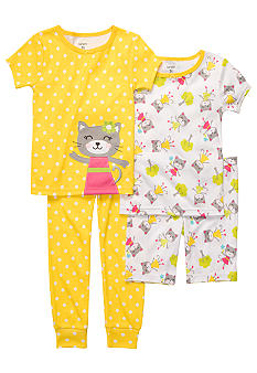 Carter's 4-Piece Kitten Pajama Set Toddler Girls