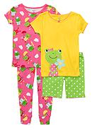 Carter's® 4-Piece Froggie PJ Set Toddler Girls