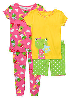 Carter's 4-Piece Froggie PJ Set Toddler Girls