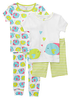 Carter's 4-Piece Fish Kisses PJ Set Toddler Girls