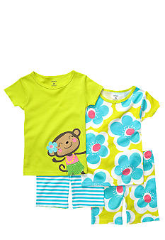 Carter's 4-Piece Monkey Pajama Set Toddler Girls